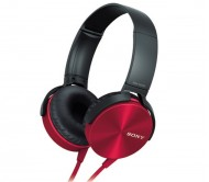 Sony MDR XB450 RED ( Color ) Extra Bass Foldable Headphones